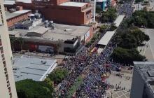 En video | Tomas aéreas muestran dimensión de la multitudinaria marcha en Barranquilla