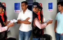 En video | El momento de la entrega del 'Zar del PAE' a las autoridades Barranquilla