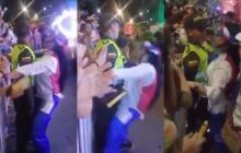 En video   El polémico comportamiento de una mujer hacia un policía en la Guacherna