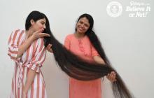 La joven con el cabello más largo del mundo se lo corta
