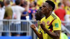 Yerry Mina celebra el gol que marcó este jueves a Senegal.