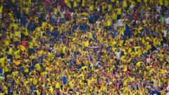 La mancha amarilla invadió el estadio Arena de Kazán.