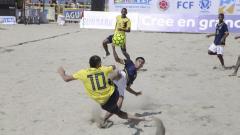 Acción del juego entre Colombia y Ecuador.