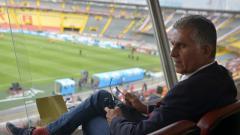 Carlos Queiroz en su visita al estadio El Campín de Bogotá, el pasado sábado, para observar en el partido entre Santa Fe y Tolima.