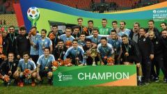 La selección de Uruguay celebrando el título de la China Cup.