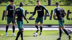 Cristiano Ronaldo entrenando con Portugal.