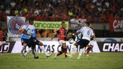 Acción del juego entre Cúcuta y Junior de Barranquilla.