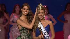 María Fernanda Aristizábal siendo coronada como Señorita Colombia 2020.