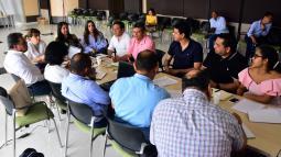 Aspecto de la reunión que se realizó ayer en la Gobernación del Atlántico.
