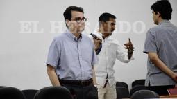 Ramsés Vargas durante la audiencia de formulación de acusación en su contra.