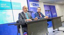 El ministro (e) de Salud, Iván Darío González, durante la rueda de prensa.