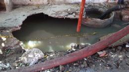 El mal olor ha sido constante por las aguas residuales.