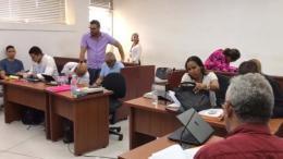 Aspecto de la audiencia que se celebró el pasado domingo en el centro de servicios de Barranquilla.