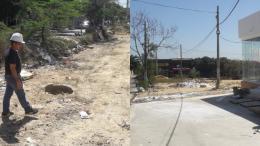 Libre de basuras quedó la zona luego de la intervención.