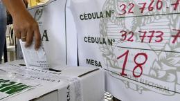 Mesa de votación. Imagen de referencia.