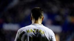 Eden Hazard, fichaje estrella del Real Madrid, en el último partido ante el Levante.