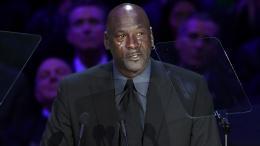 Michael Jordan, leyenda de la NBA, en la ceremonia de despedida a Kobe Bryant.