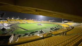 Así luce actualmente el estadio de futbol Jaime Morón de Cartagena, donde a partir de las 6 p.m. se inaugurarán los Juegos Nacionales.