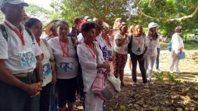Algunos de los familiares de víctimas de desaparición forzada de San Onofre.