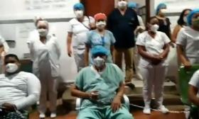 Los trabajadores permanecen en huelga de hambre en el Hospital Rosario Pumarejo de López.