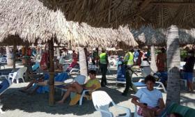 El Rodadero fue una de las playas más visitadas en Santa Marta durante el fin de semana que pasó.