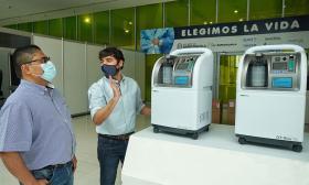 Empresas de servicios públicos donan 34 concentradores de oxígeno
