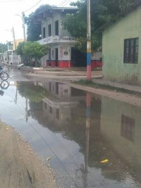 Así lucen actualmente las calles de Ponedera.