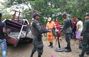 Evacuan Guaranda, tras amenaza de inundación por rompimiento del río Cauca