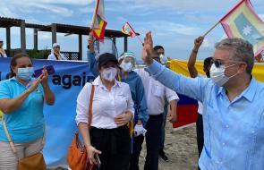 Duque revisa puesta en marcha de protocolos de bioseguridad en Cartagena