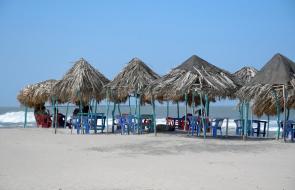 Playas del Atlántico con poca afluencia de visitantes