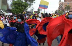 Estudiantes realizan manifestación artística en Barranquilla