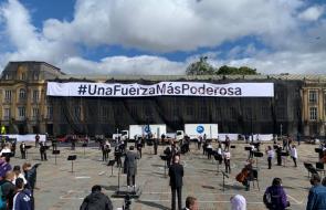 Orquesta Filarmónica de Bogotá realiza concierto en la Plaza de Bolívar