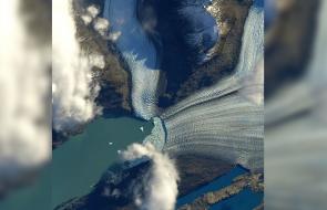 NASA muestra cómo se ve un glaciar argentino desde el espacio