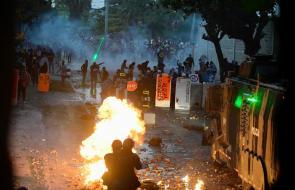 La calle 17 fue epicentro de disturbios protagonziados por encapuchados
