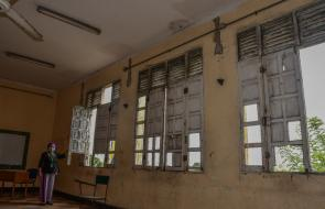Estado actual del colegio Camilo Torres Tenorio, en Barranquilla