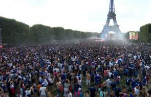 Explosión de júbilo en París con la victoria de Francia en el Mundial