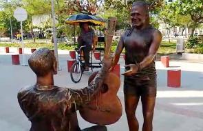 En video | Cienagueros opinan sobre el polémico monumento a Carlos Vives
