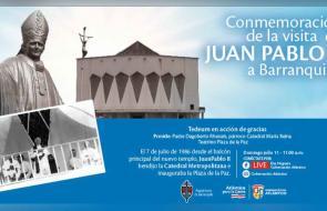 Conmemoración de la visita del papa Juan Pablo II a Barranquilla