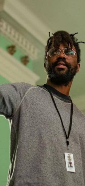 El director de cine durante el rodaje de su película.