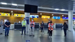 El Gobierno Nacional verificó la implementación del Protocolo de Bioseguridad en aeropuertos.