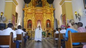 La eucaristía del año pasado en el Santuario de La Popa en honor de la Virgen de la Candelaria.