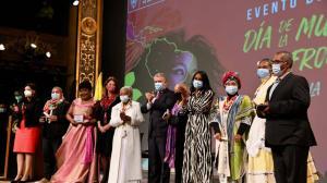 Mujeres afrodescendientes recibieron condecoración