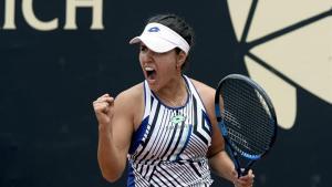 María Camila Osorio en el torneo de Charleston