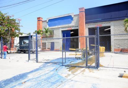 Bodega 2 del Centro Industrial Circunvalar, donde este lunes ocurrió el accidente laboral.