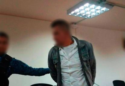 El capturado durante la audiencia en Bogotá.