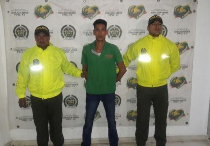 Geovani Rafael Medina Barrios capturado por las autoridades.