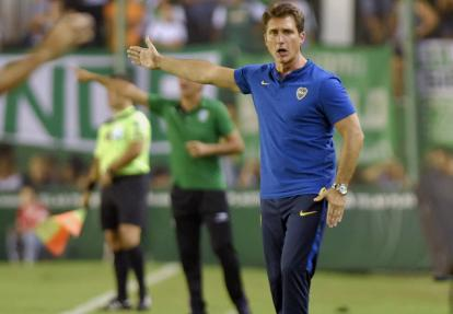 Guillermo Barros Schelotto, DT de Boca Juniors.