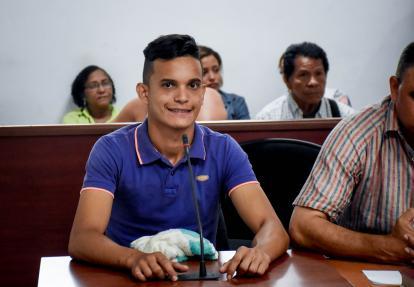 Luis Carlos Maestre sonrió en la audiencia.
