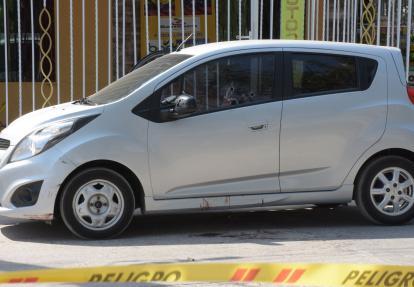 Vehículo en el se movilizaba Jaime Nausat García.