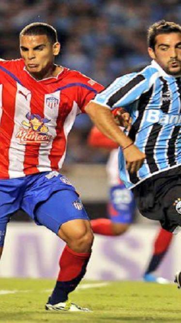 Fawcett en un partido de la Libertadores ante Gremio.